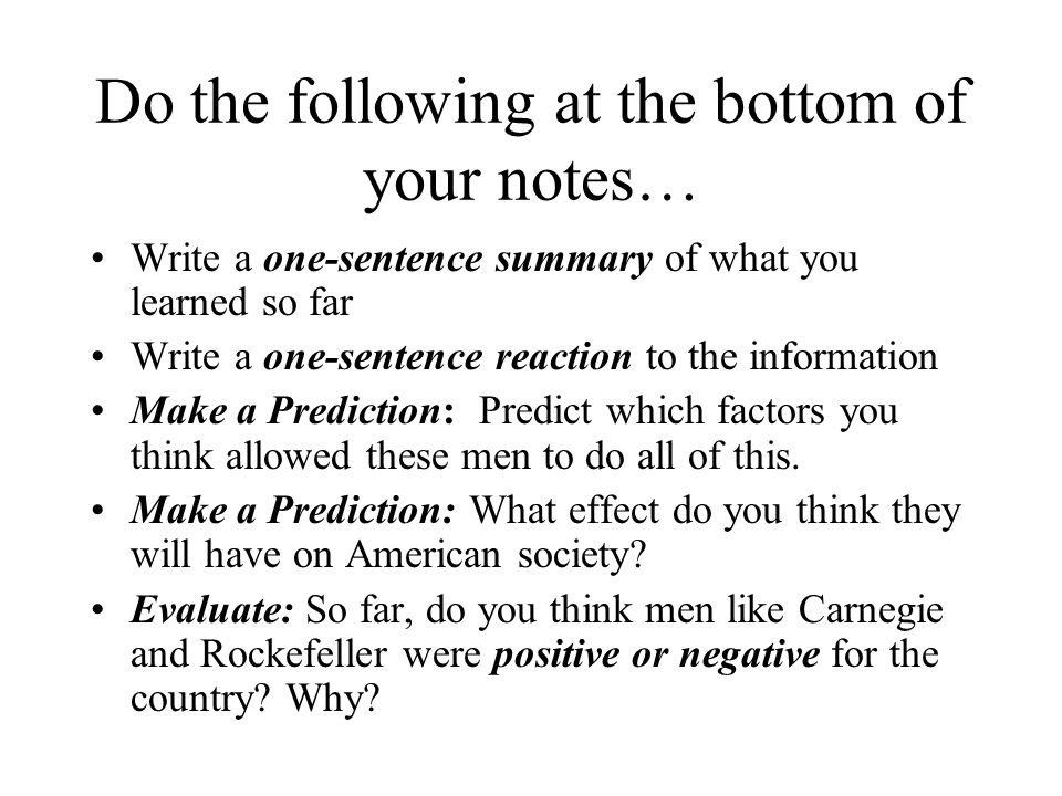 Do the following at the bottom of your notes…