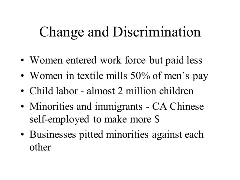Change and Discrimination