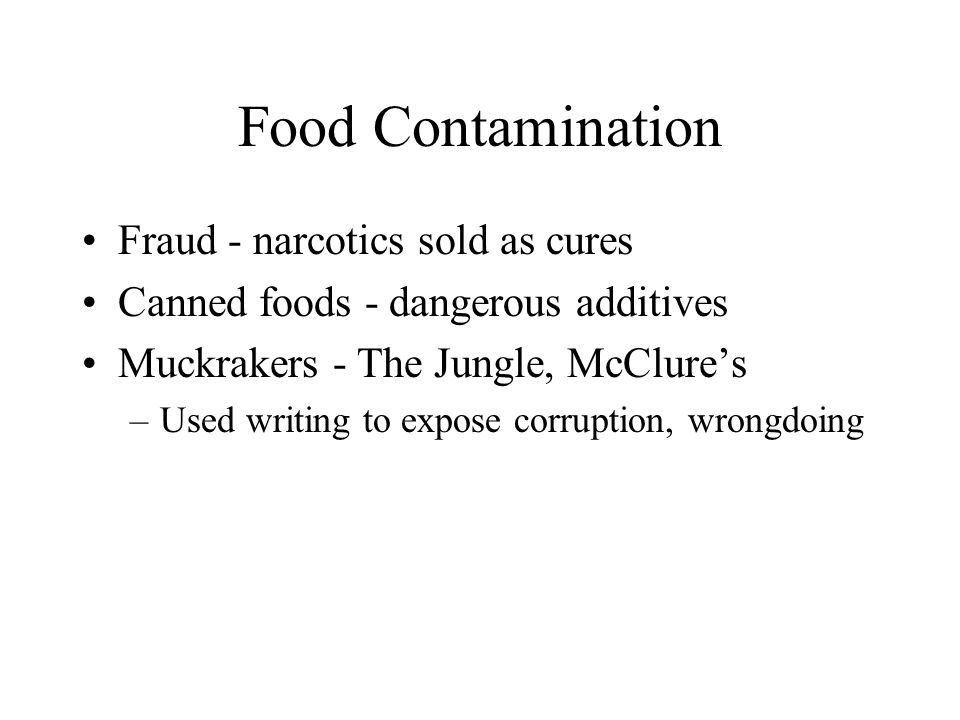 Food Contamination Fraud - narcotics sold as cures