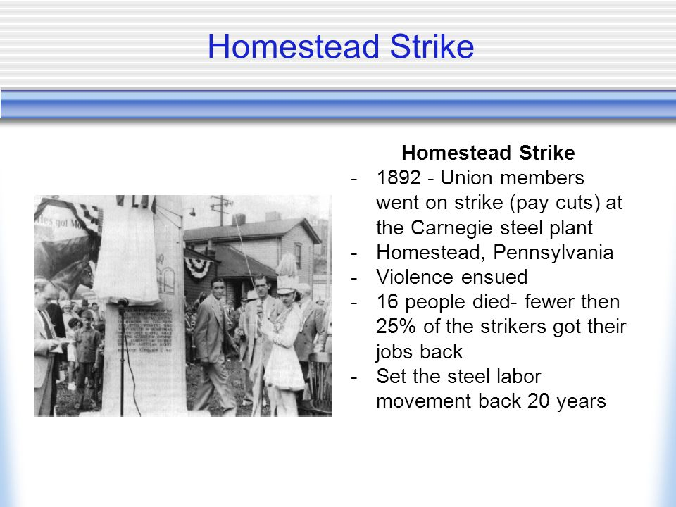Homestead Strike Homestead Strike
