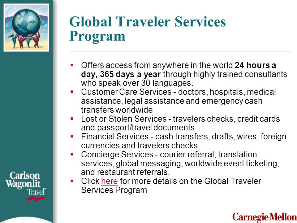 Global Traveler Services Program