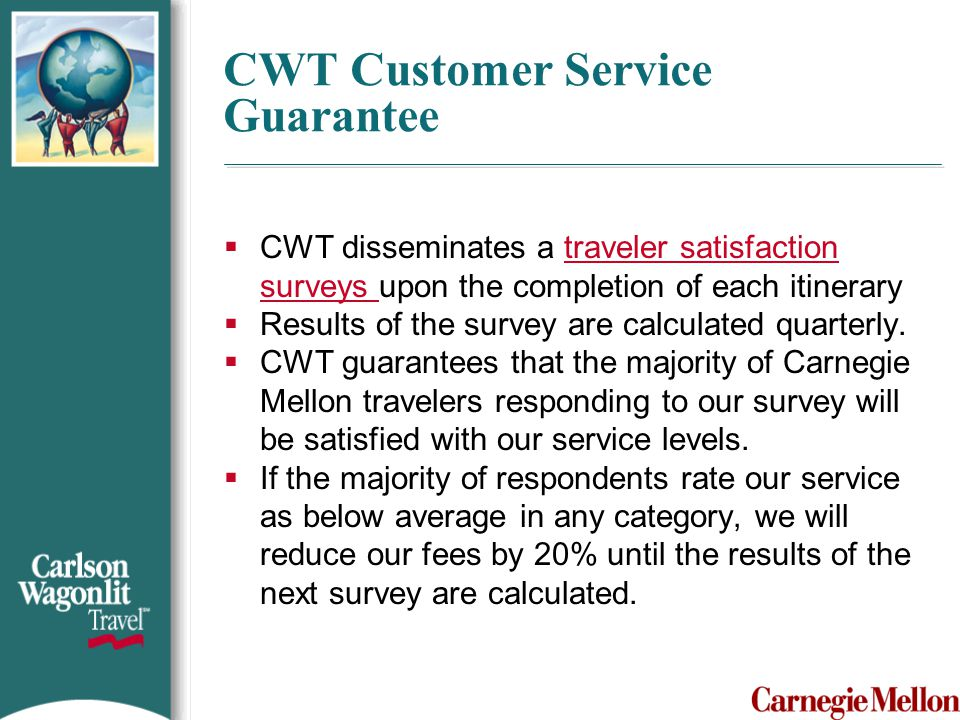 CWT Customer Service Guarantee