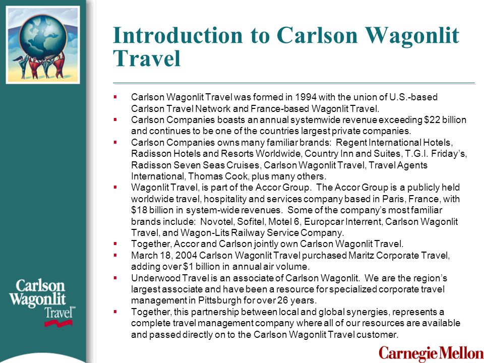 Introduction to Carlson Wagonlit Travel