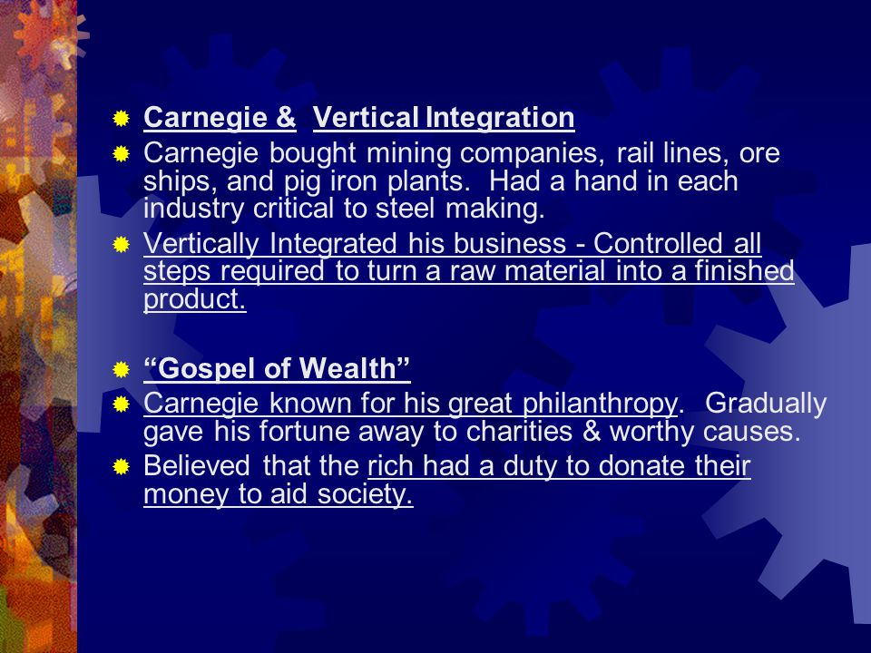 Carnegie & Vertical Integration