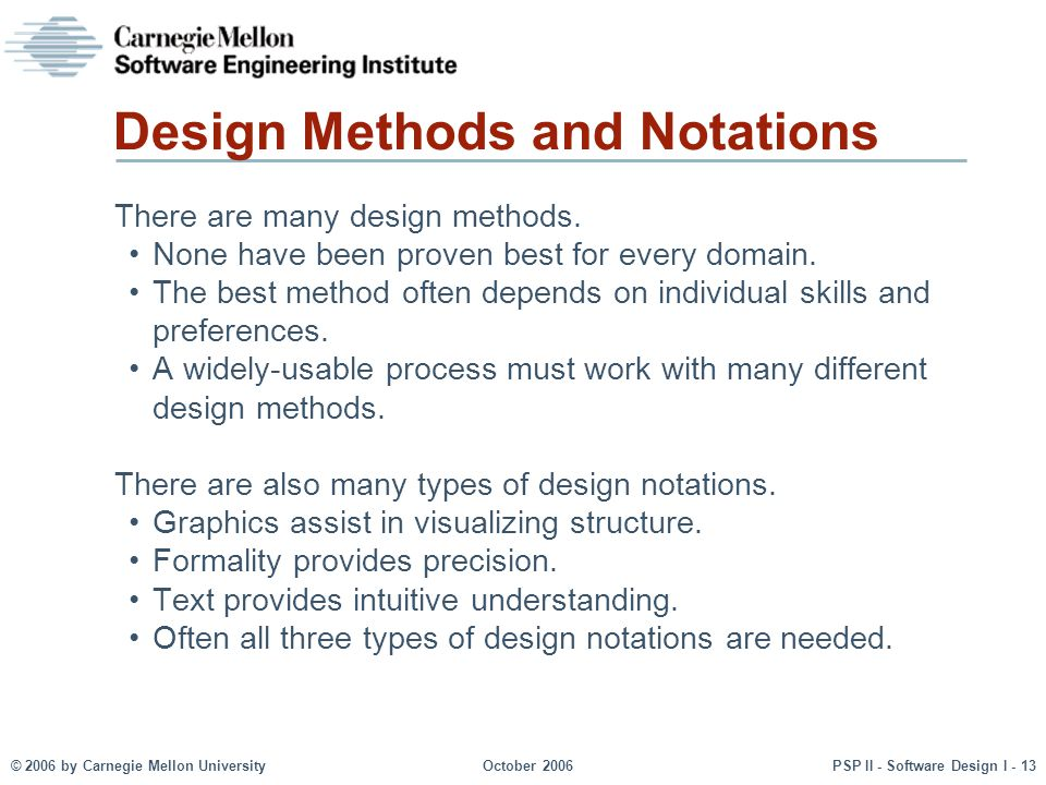 Design Methods and Notations