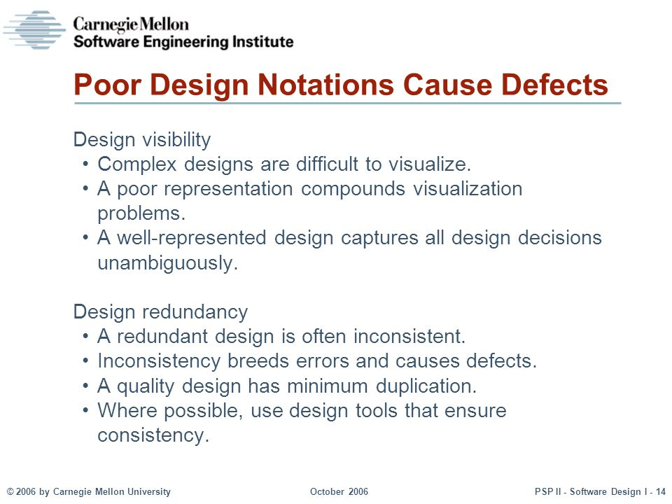 Poor Design Notations Cause Defects