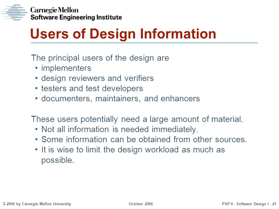 Users of Design Information
