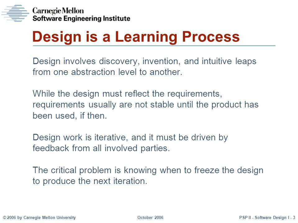 Design is a Learning Process