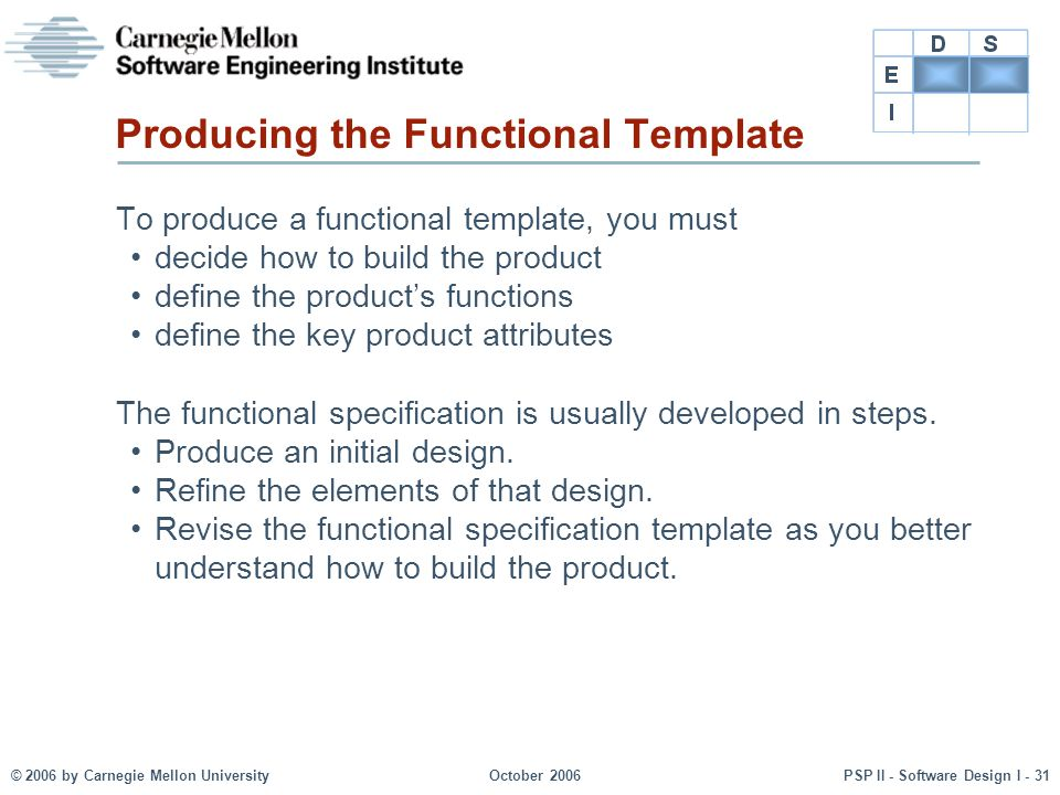 Producing the Functional Template