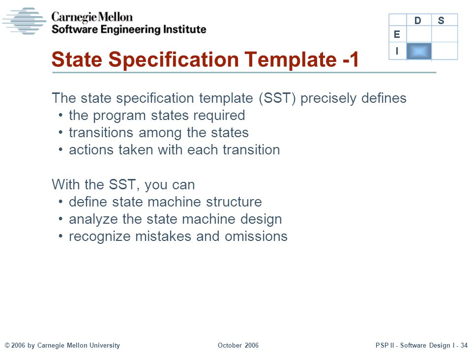 State Specification Template -1