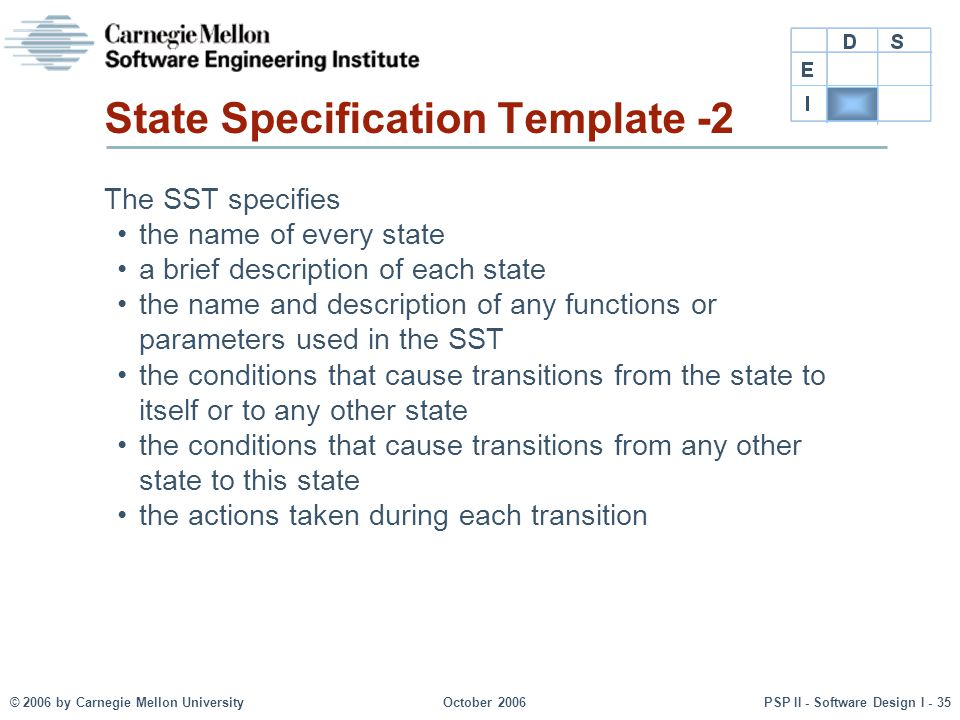 State Specification Template -2