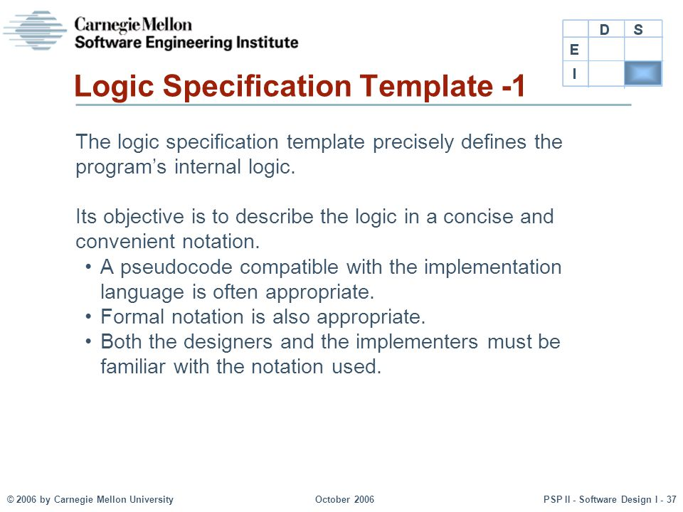 Logic Specification Template -1