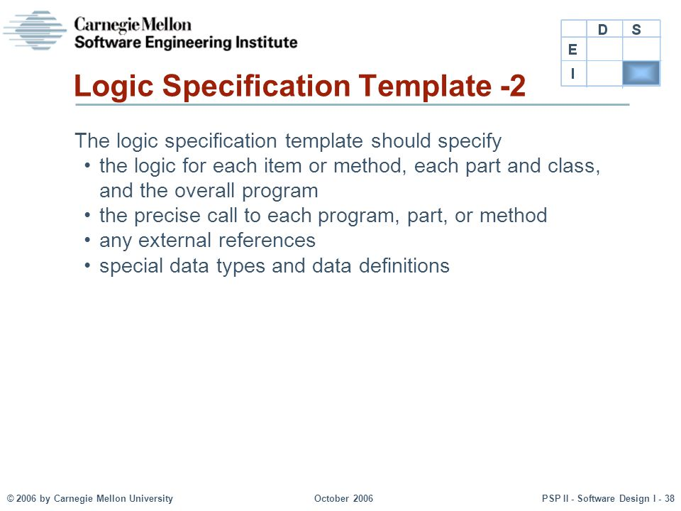 Logic Specification Template -2