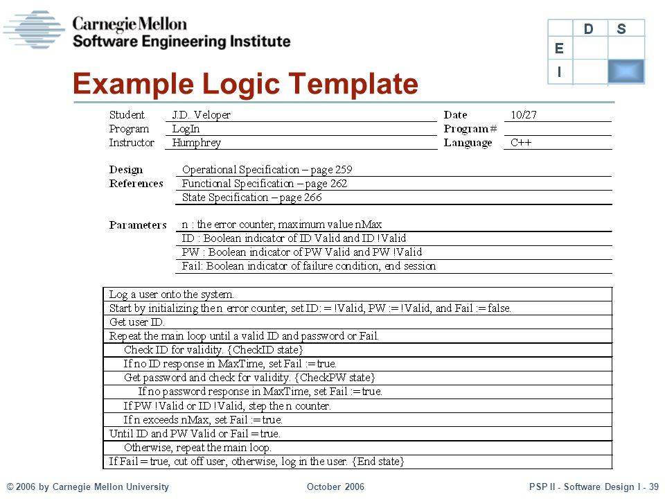 Example Logic Template
