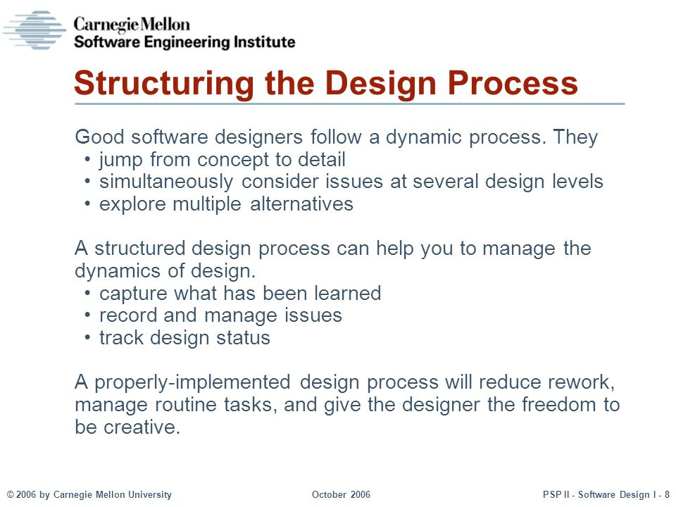 Structuring the Design Process
