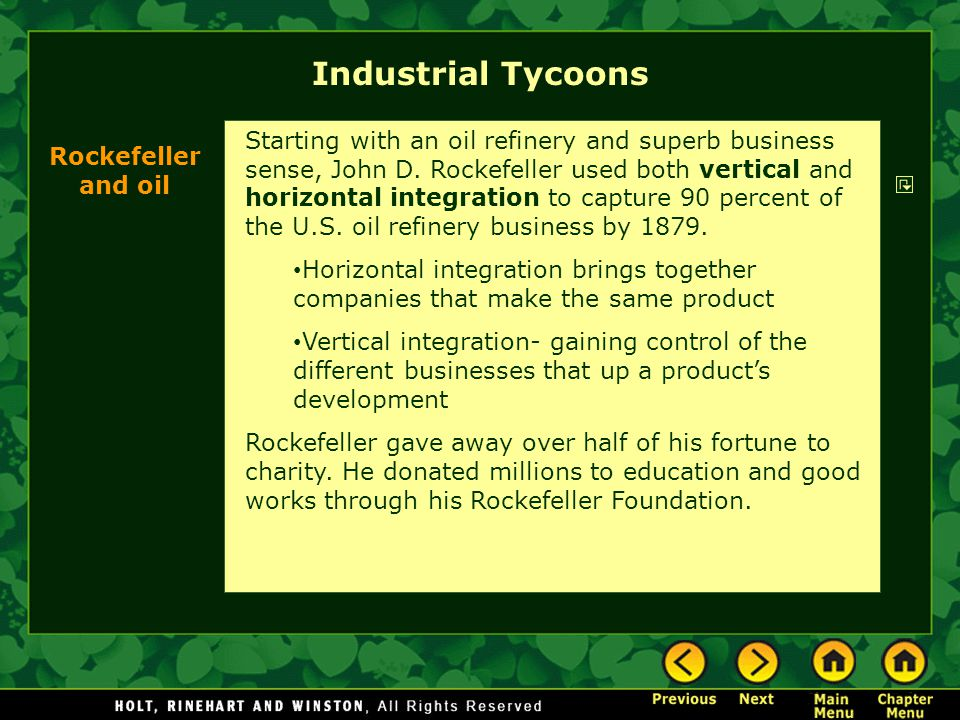 Industrial Tycoons