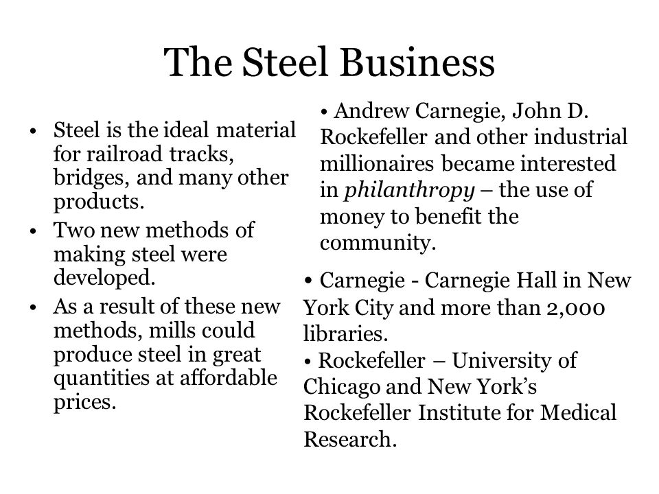 The Steel Business