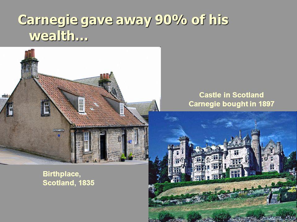 Castle in Scotland Carnegie bought in 1897