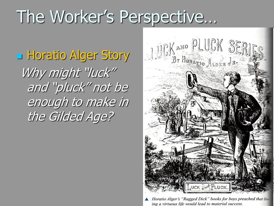 The Worker's Perspective…