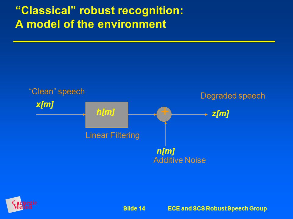 Classical robust recognition: A model of the environment