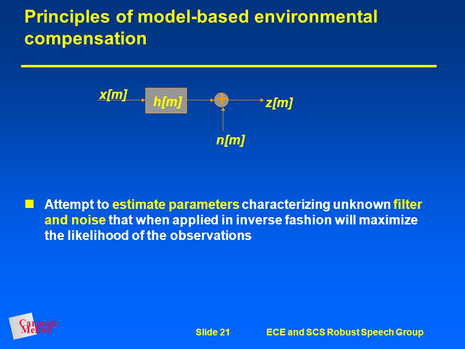 Principles of model-based environmental compensation