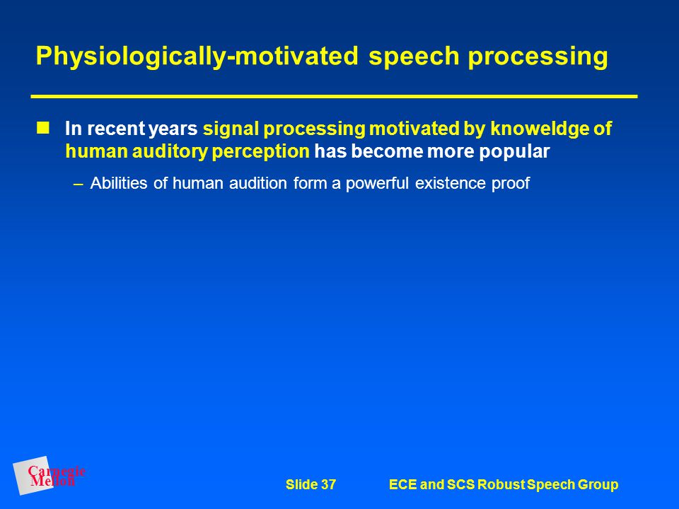 Physiologically-motivated speech processing