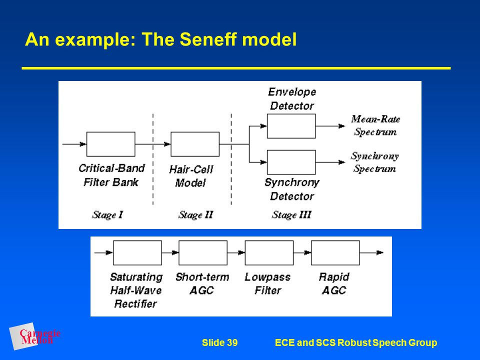 An example: The Seneff model