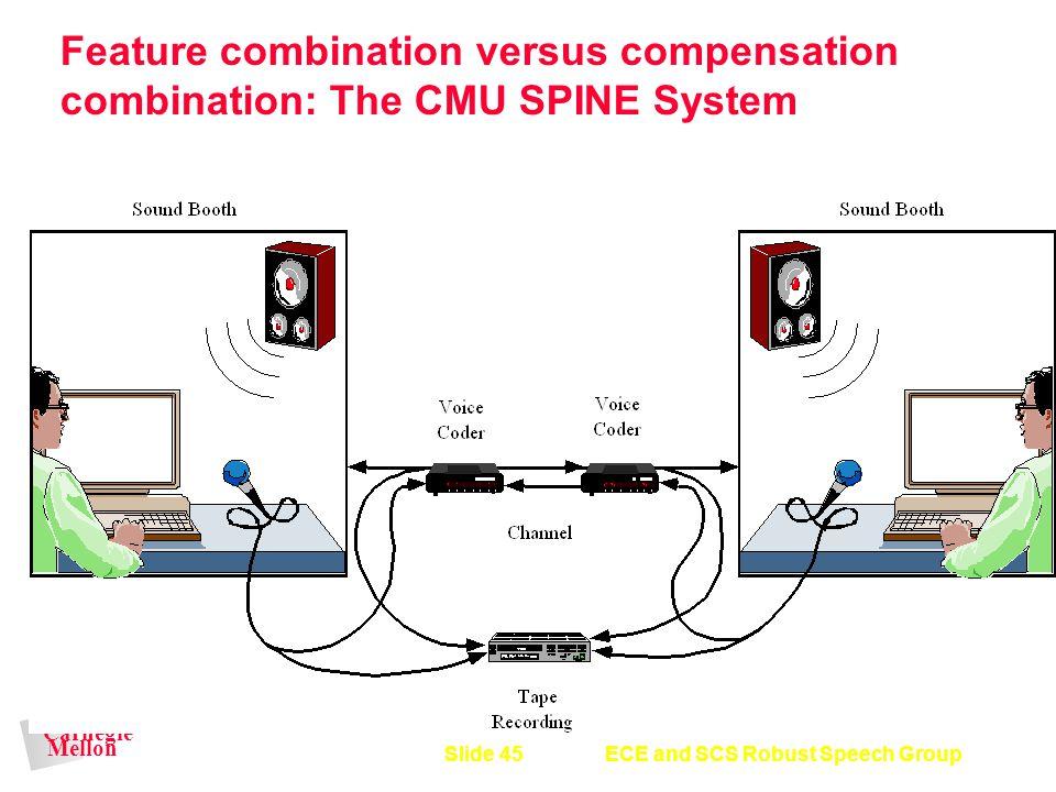 Feature combination versus compensation combination: The CMU SPINE System