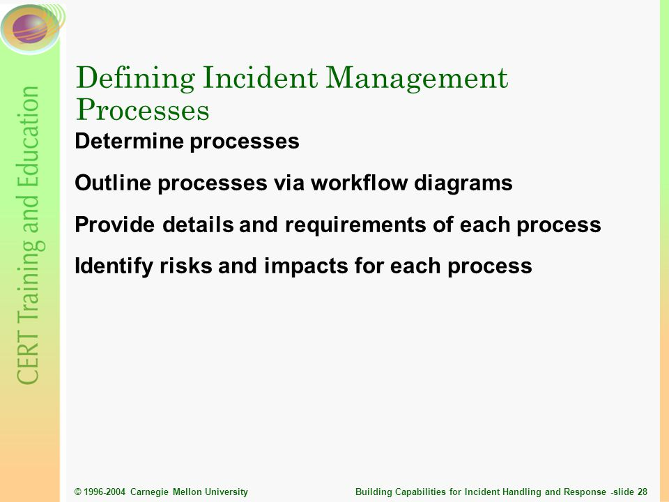 Defining Incident Management Processes