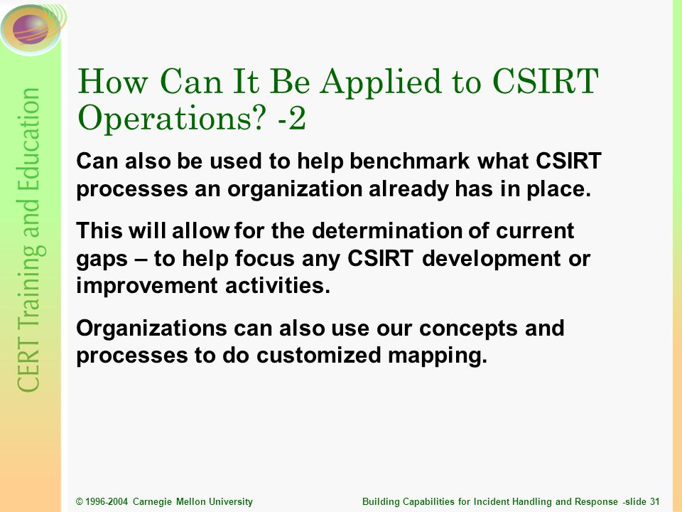 How Can It Be Applied to CSIRT Operations -2