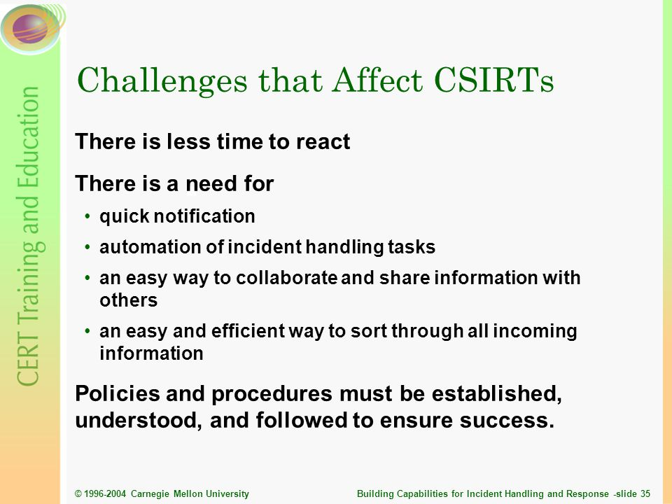 Challenges that Affect CSIRTs