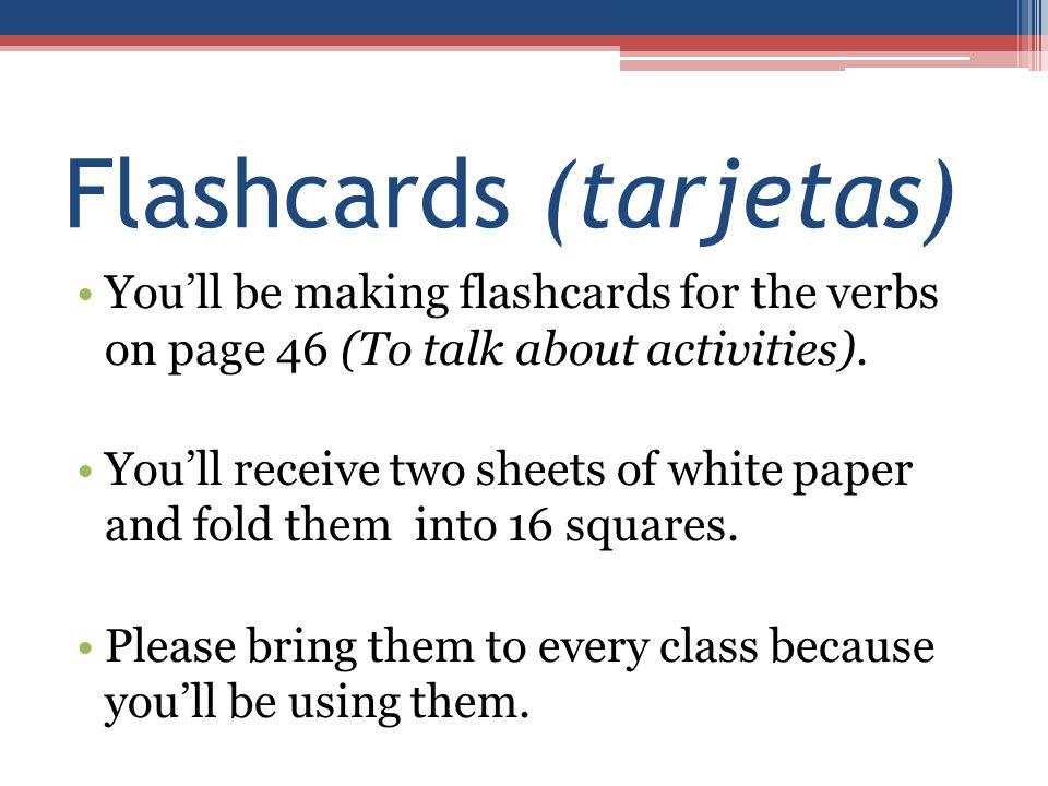 Flashcards (tarjetas)