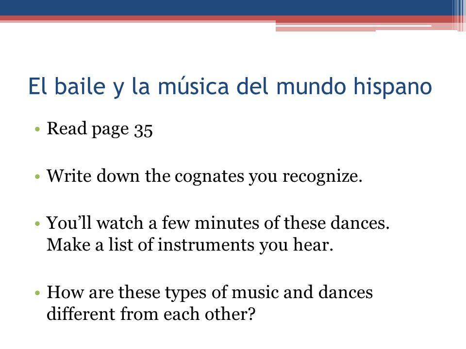 El baile y la música del mundo hispano