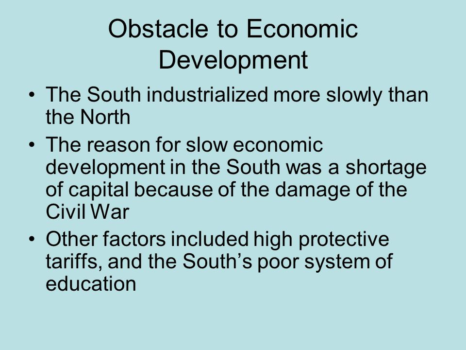 Obstacle to Economic Development