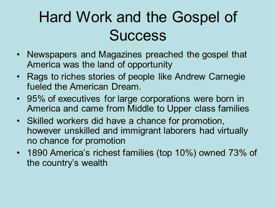 Hard Work and the Gospel of Success