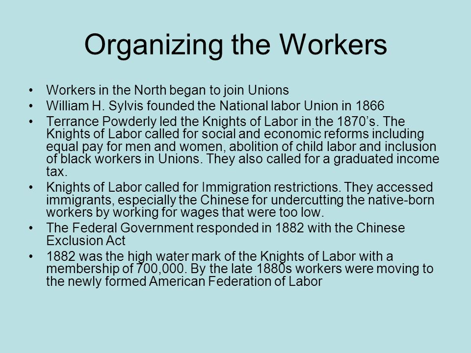 Organizing the Workers