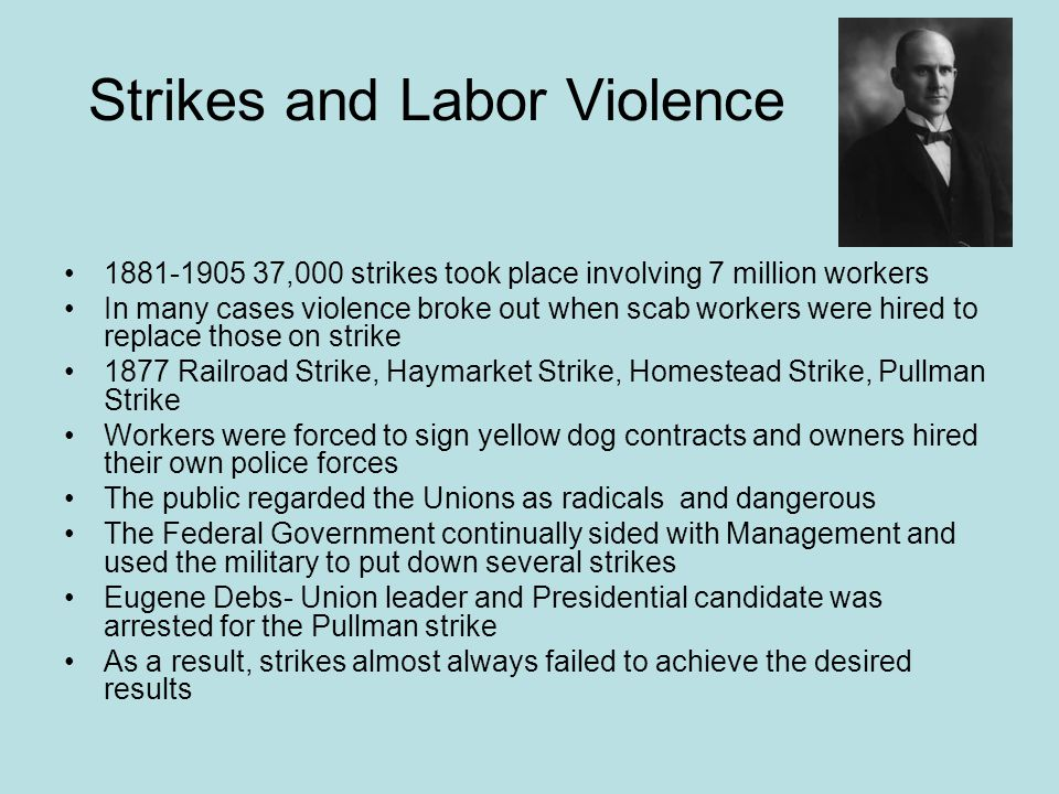 Strikes and Labor Violence