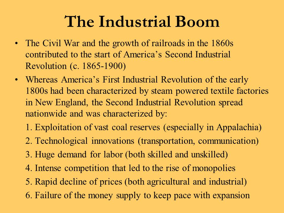 The Industrial Boom