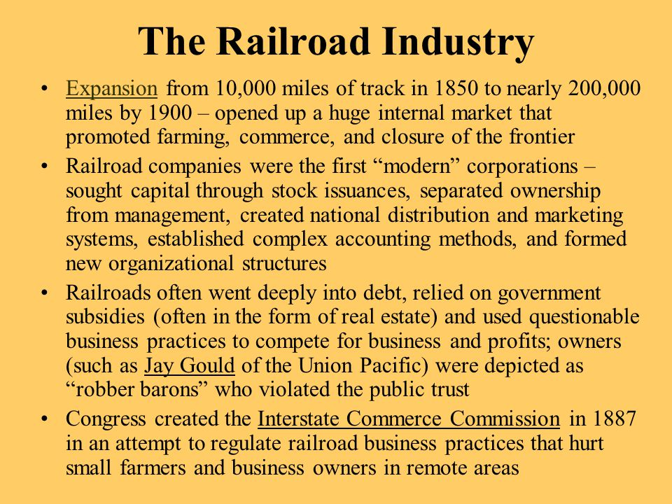 The Railroad Industry
