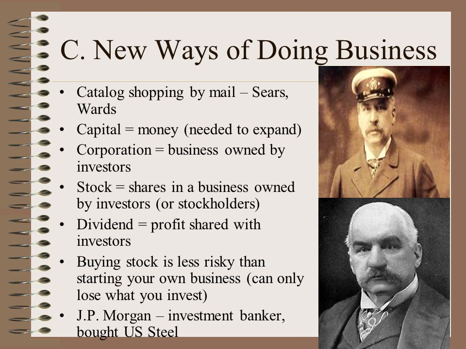 C. New Ways of Doing Business