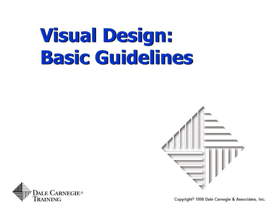 Visual Design: Basic Guidelines