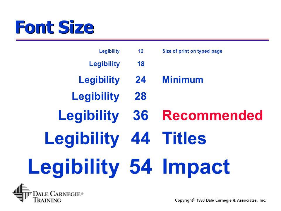 Legibility 54 Impact Font Size