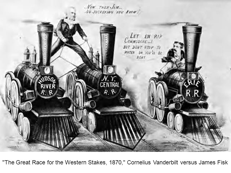 The Great Race for the Western Stakes, 1870, Cornelius Vanderbilt versus James Fisk