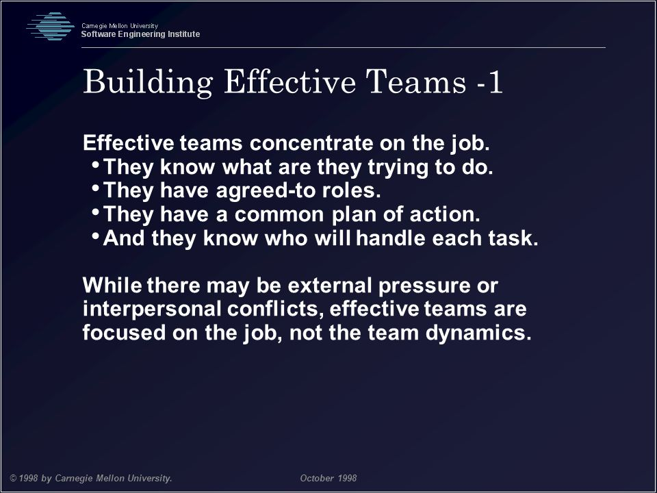 Building Effective Teams -1