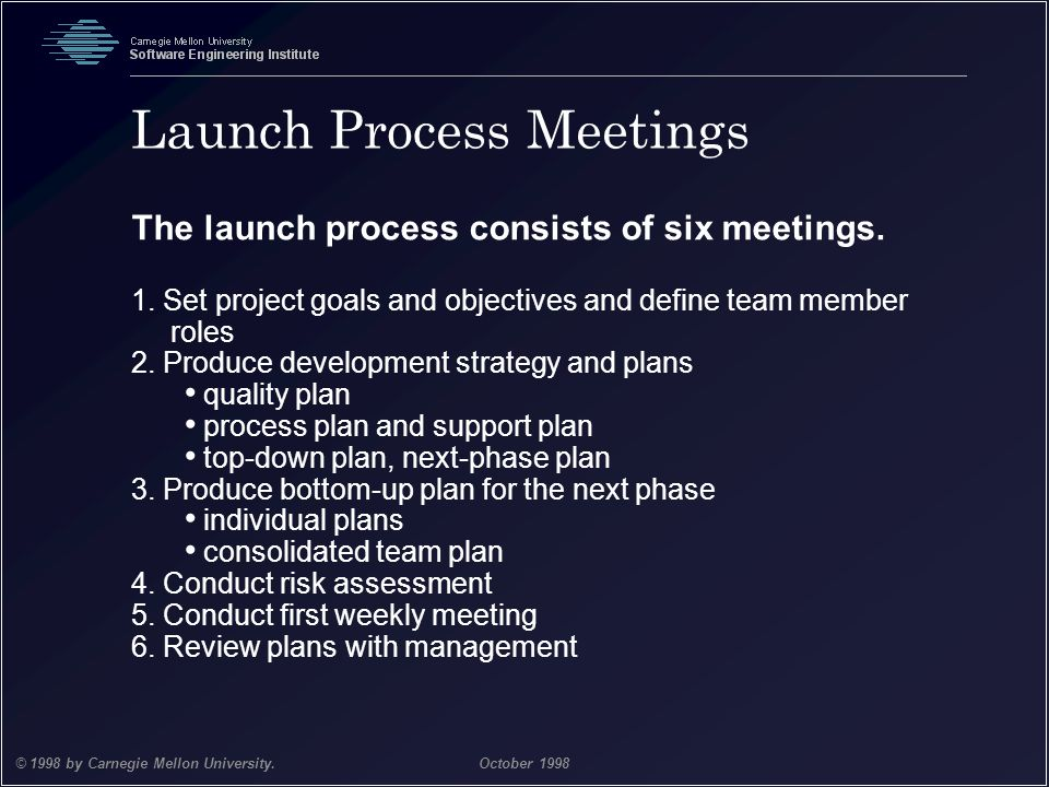 Launch Process Meetings