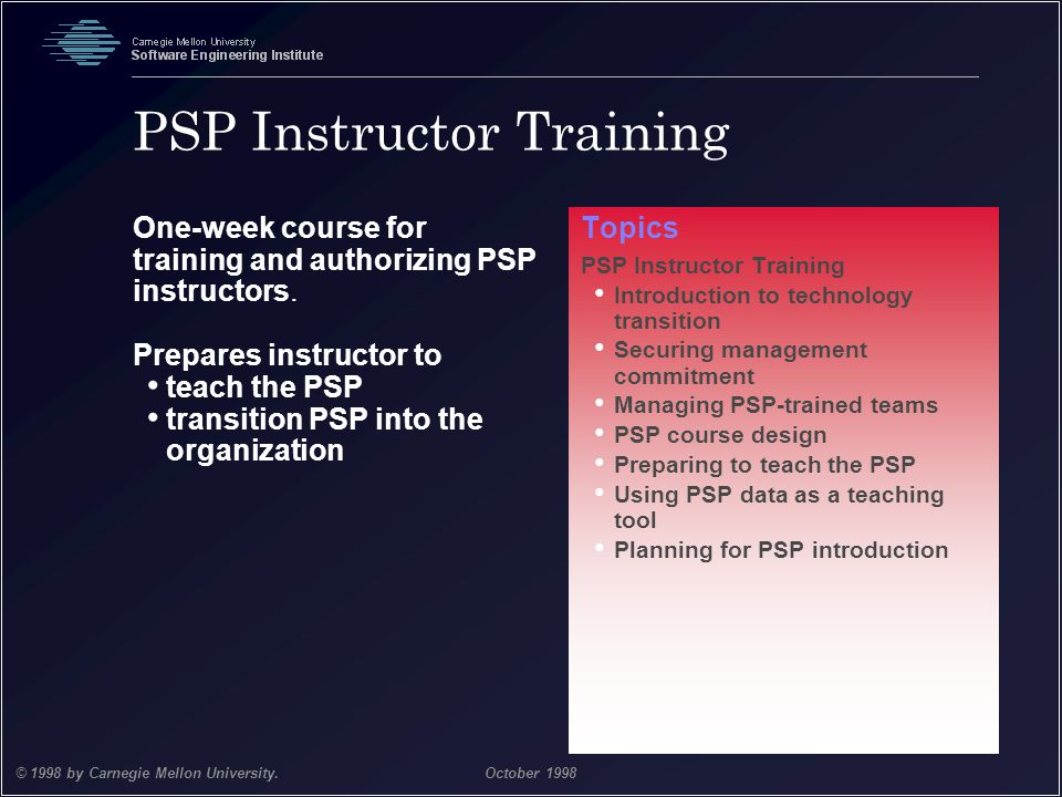 PSP Instructor Training