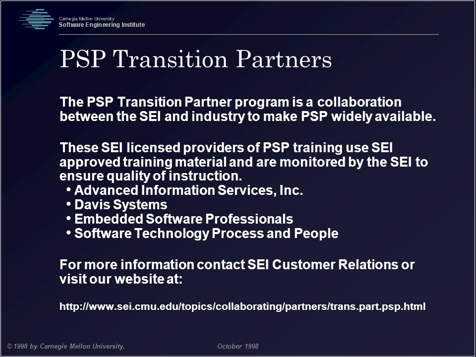 PSP Transition Partners