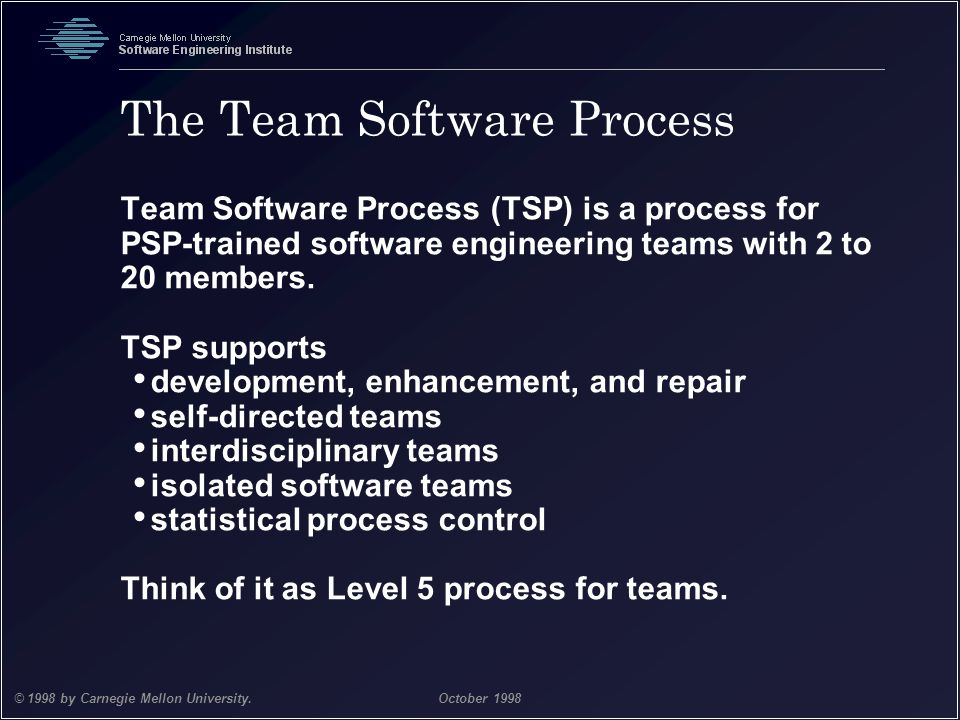 The Team Software Process