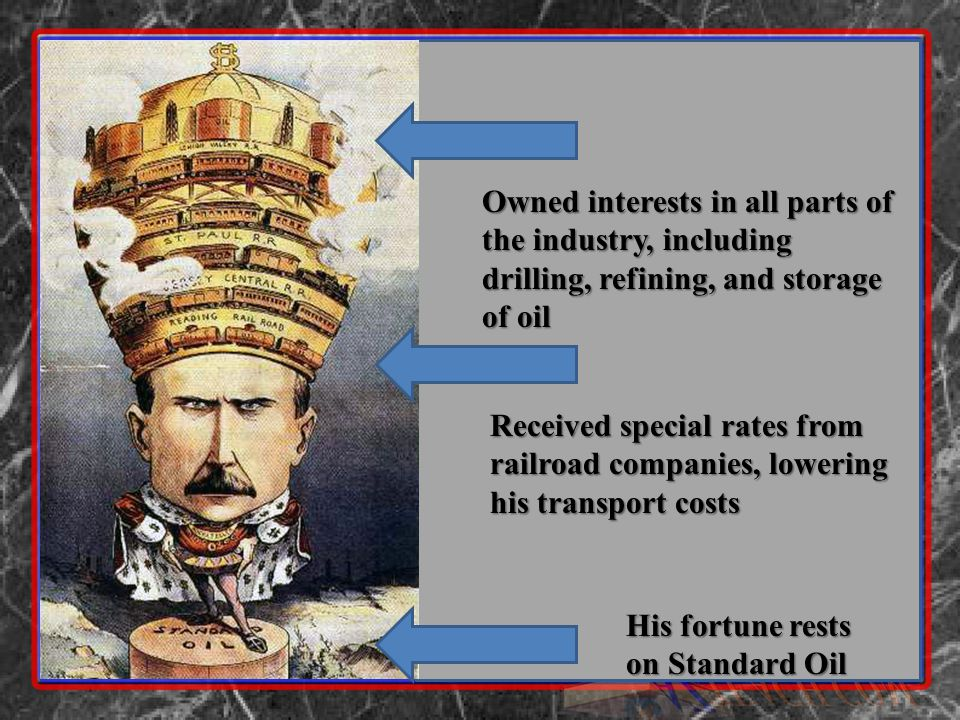 Owned interests in all parts of the industry, including drilling, refining, and storage of oil