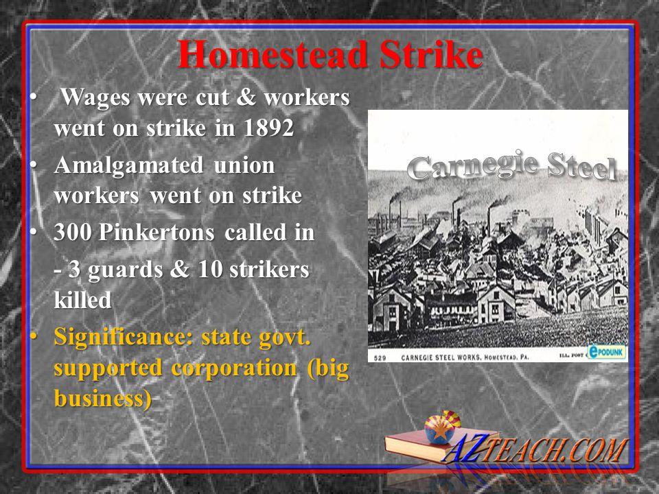 Carnegie Steel Homestead Strike